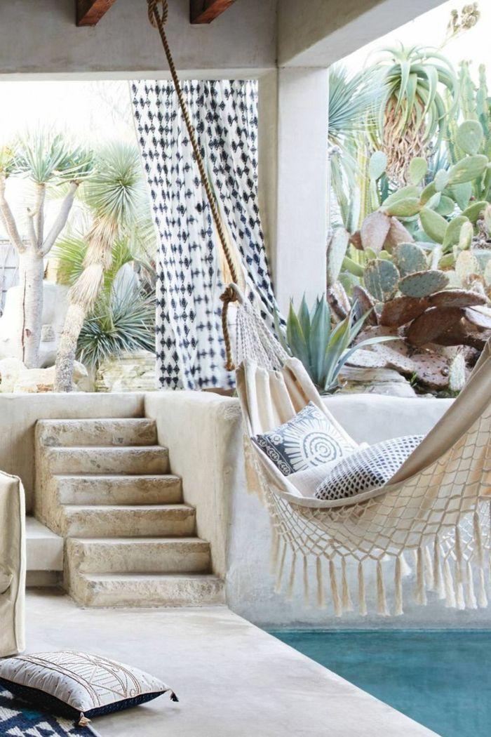 lounge möbel rustikale einrichtungsideen für den außenbereich - terrasse lounge mobeln einrichten