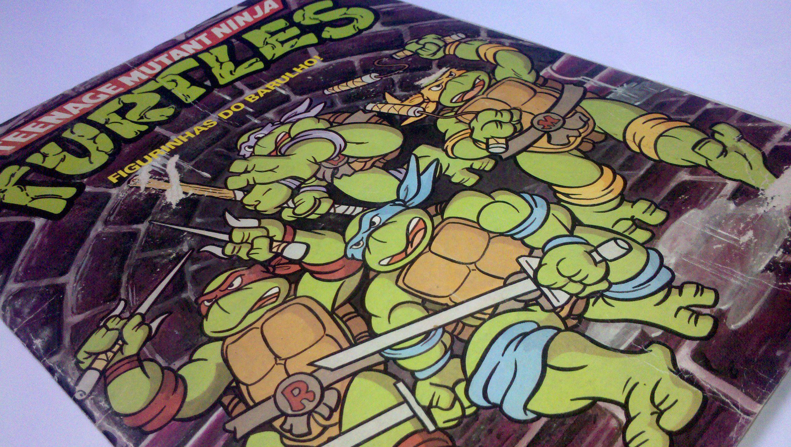 As Tartarugas Ninja - Álbum de figurinhas de 1990.