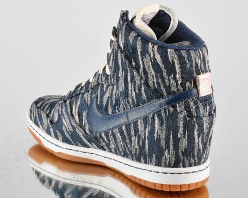 online store 89a2c 04026 Nike Wmns Dunk Sky Hi PRM Armory Navy Premium Womens High Lifestyle Shoes  New   eBay