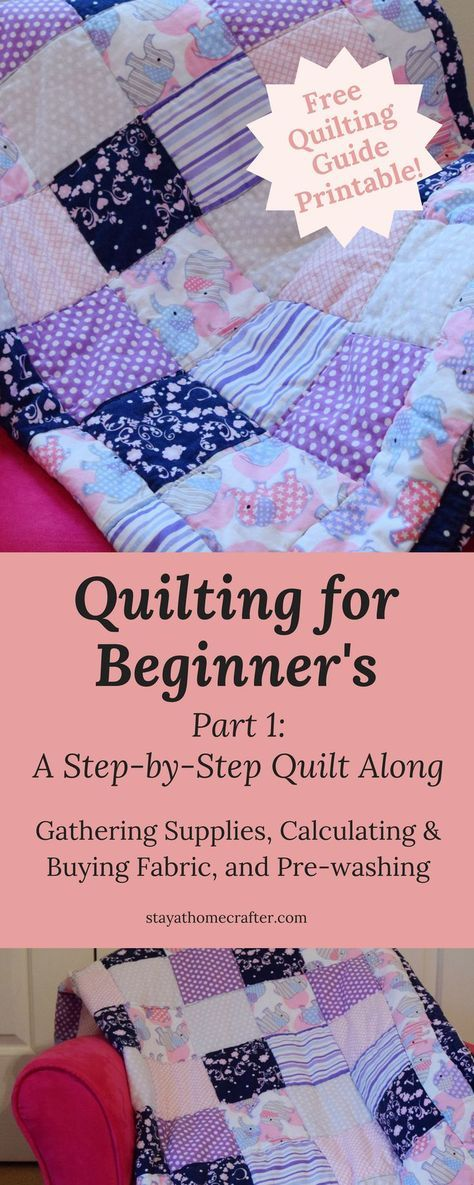 Step-by-Step Quilt Along for Beginner's: Part 1 #beginnersewingprojects