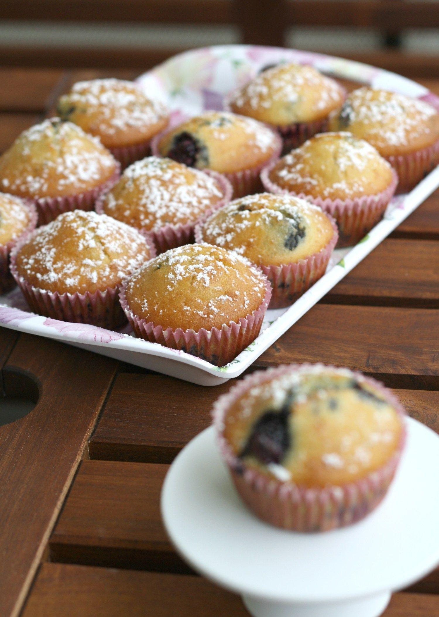 Rezept für einfache Brombeer-Muffins #brombeerenrezepte