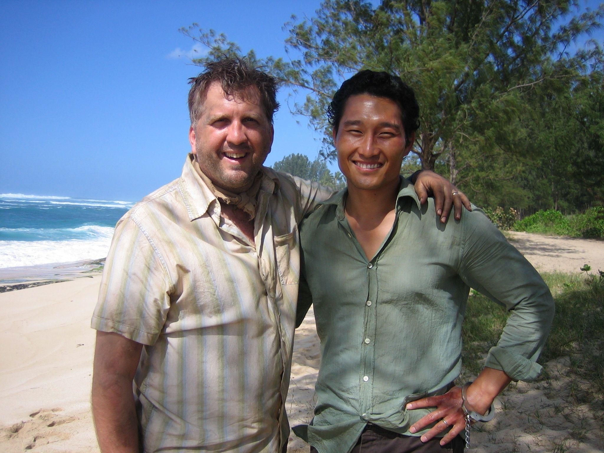 Daniel Roebuck and Daniel Dae Kim behind the scenes. What a great shot!