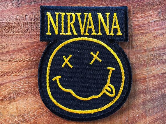 NIRVANA PUNK BADGE Embroidered Patch Iron Sew Logo MUSIC ROCK BAND METAL HEAVY