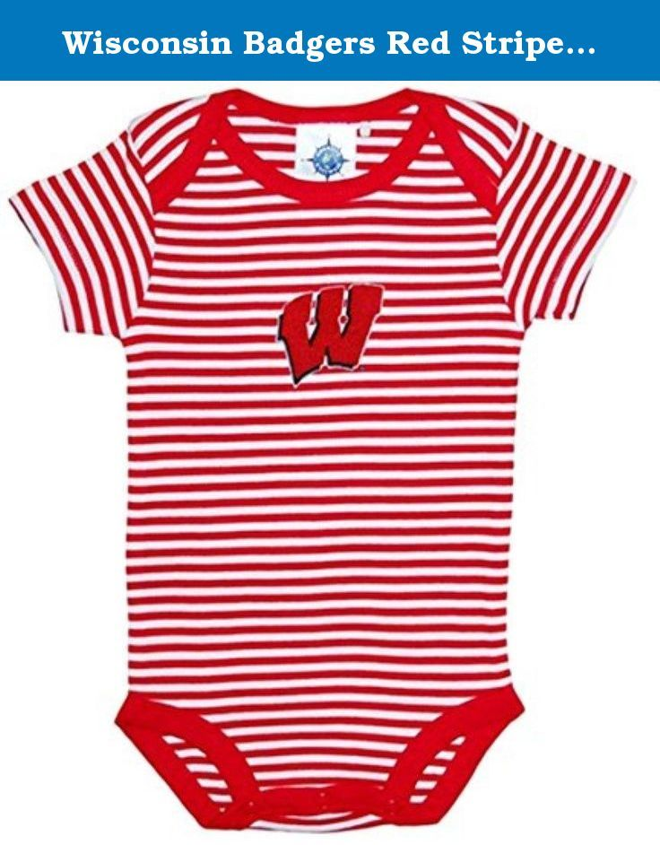 21dfef85 Wisconsin Badgers Red Striped NCAA College Newborn Infant Baby Cree ...