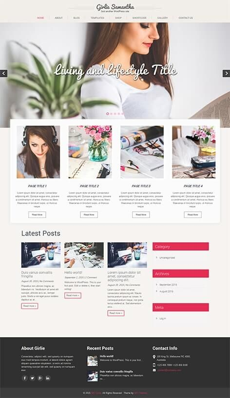 Feminine Wordpress Themes Florence Girly Wordpress Themes Free Wordpress Themes Free Wordpress Templates