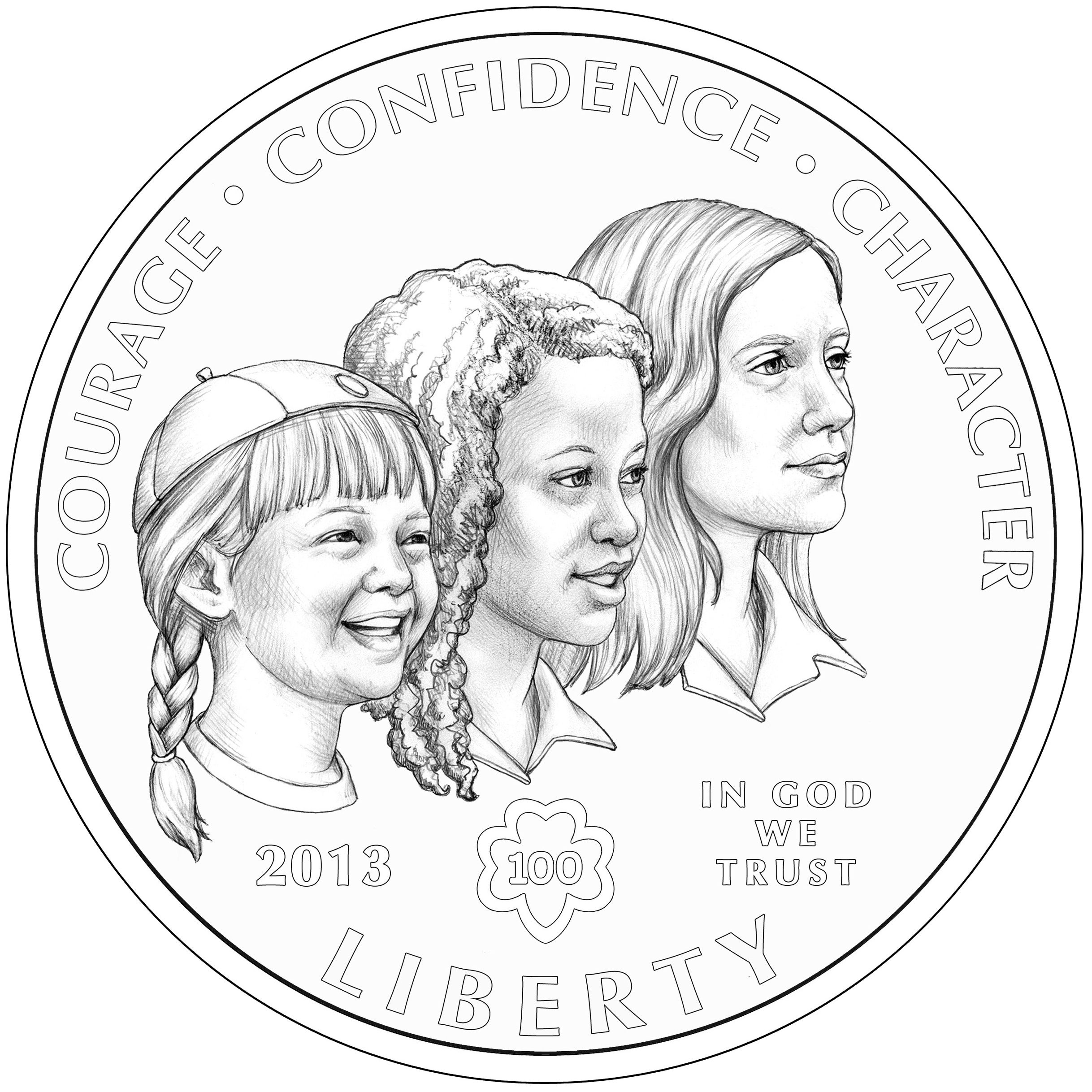 The Girl Scouts Of The Usa Centennial Silver Dollar Has Been Unveiled And Will Be Sold In