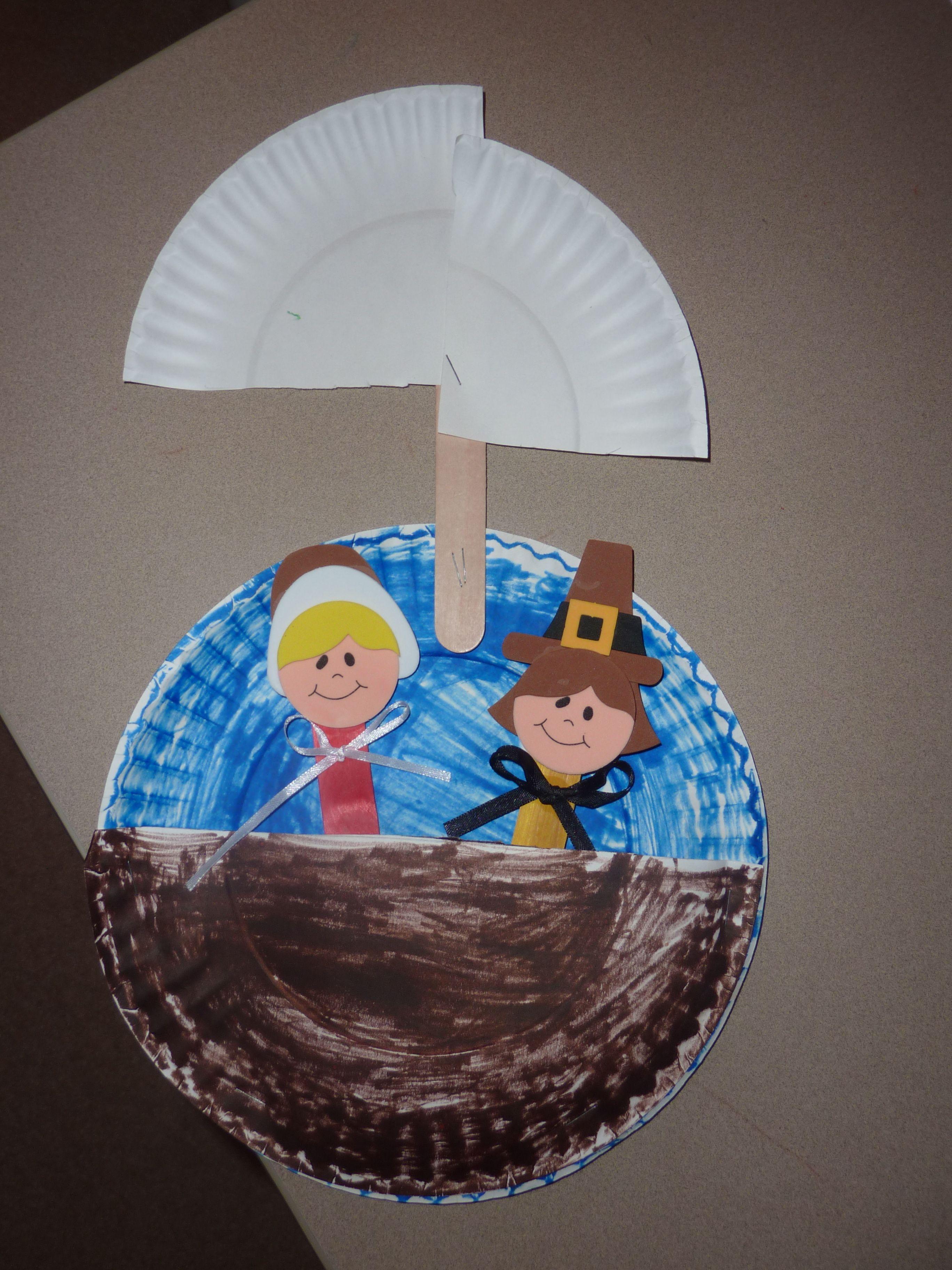 Mayflower Crafts - Google November Thanksgiving Preschool