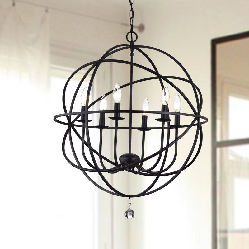 Eastbourne 6 Light Unique Statement Globe Chandelier With Images Globe Chandelier Modern Lighting Design Stylish Pendant Lighting