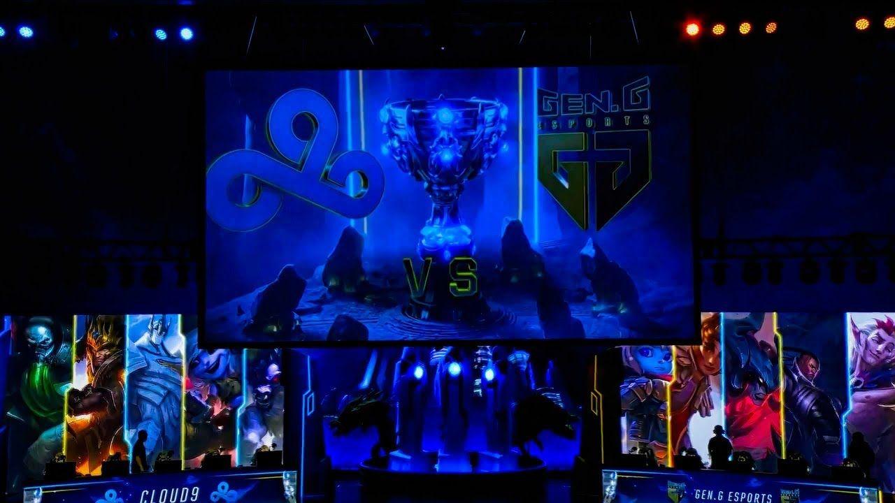 League Of Legends Worlds 2018 Highlights between Cloud9 and