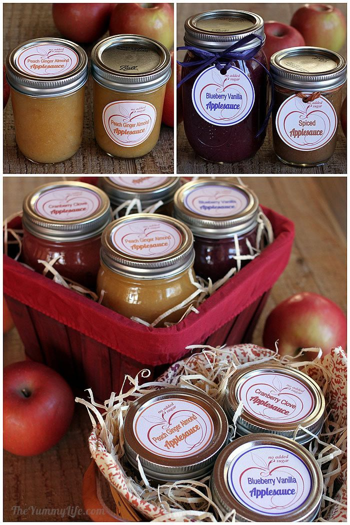DIY Fruit & Spice Applesauce Blends with canning