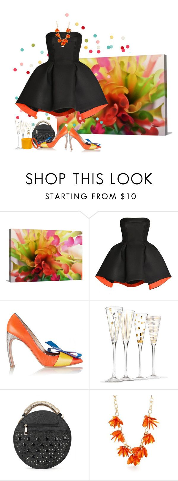 """""""THE Party"""" by tinayar ❤ liked on Polyvore featuring Parlor, Nicholas Kirkwood, Marni and New Directions"""