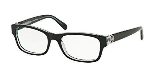 Michael Kors RAVENNA MK8001 Eyeglass Frames 3001-51 - Black/Blue ...