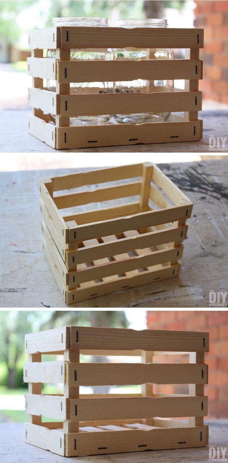 Wooden crafts to paint - Diy Paint Stick Flower Basket Paint Stick Craft