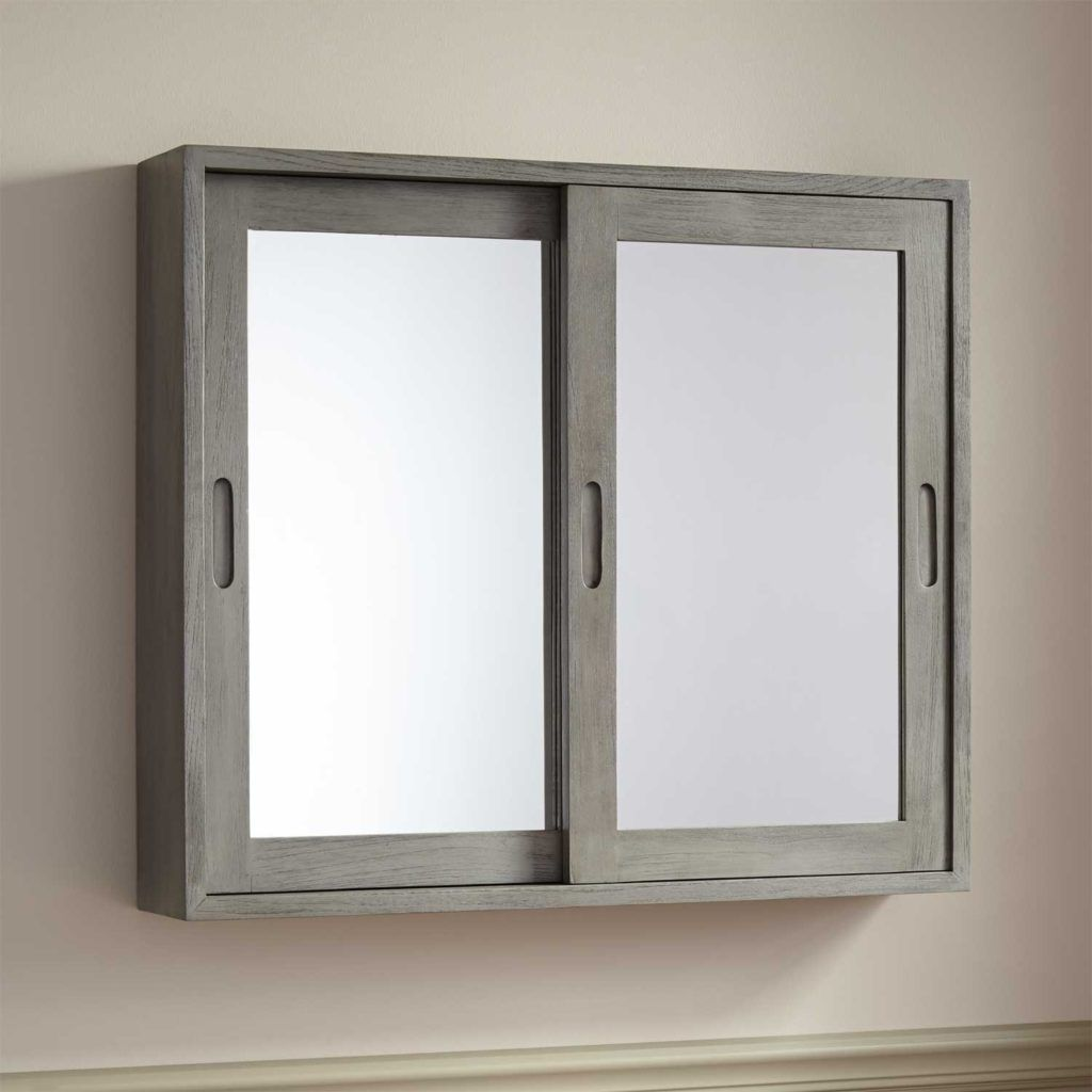 Aura 60cm Mirror Bathroom Cabinet With Led Lights Bathroom