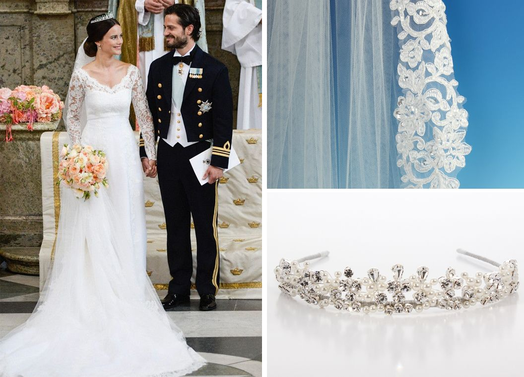 Get a wedding style like Princess Sofia with our lace edge veil ...