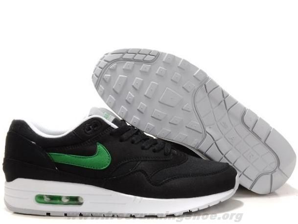2014 Black Victory Green White Mens Nike Air Max 1 308866