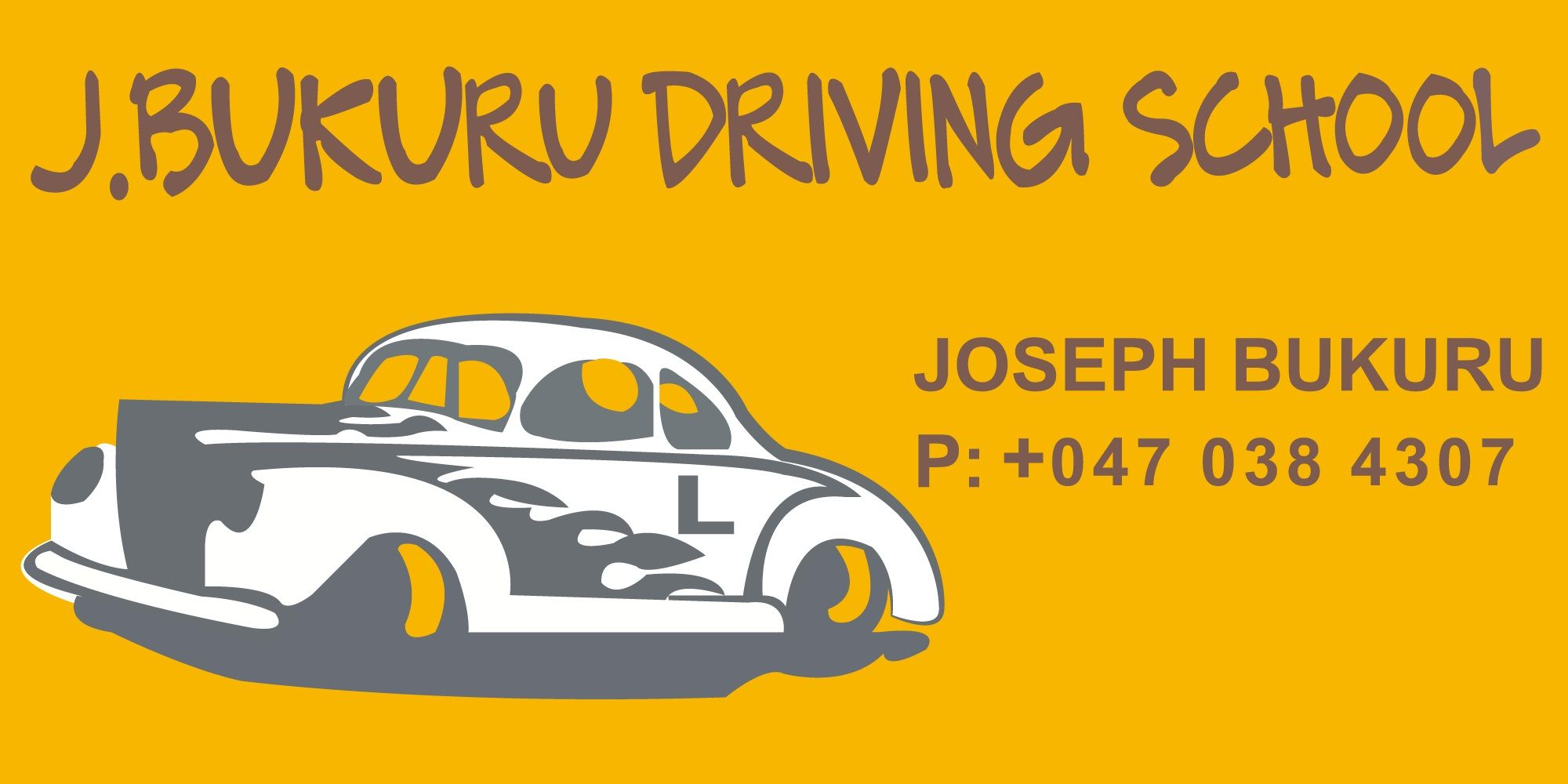 Private Driving Instructors Near Me >> J Bukuru Driving School Has A Greatest Dream To Help And