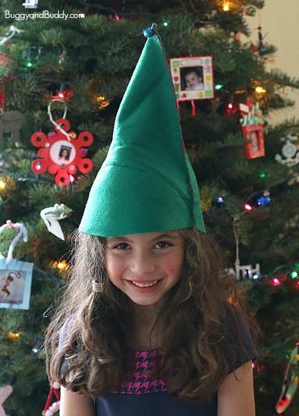 diy felt elf hat sewing project for kids elf hat elves and hand