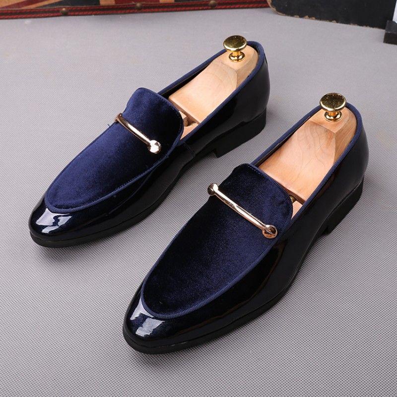 Mezlan Men/'s Auguste Calfskin Elegant Evening Formal Smoking Slip On Shoes Blue
