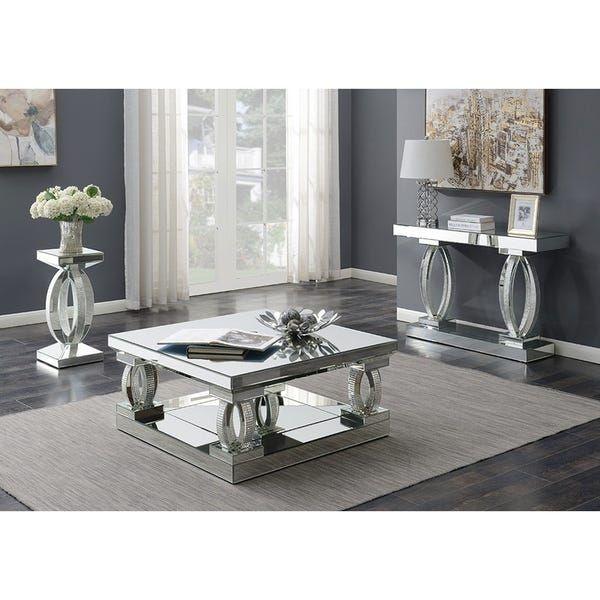 silver orchid ipsen silver mirror square coffee table