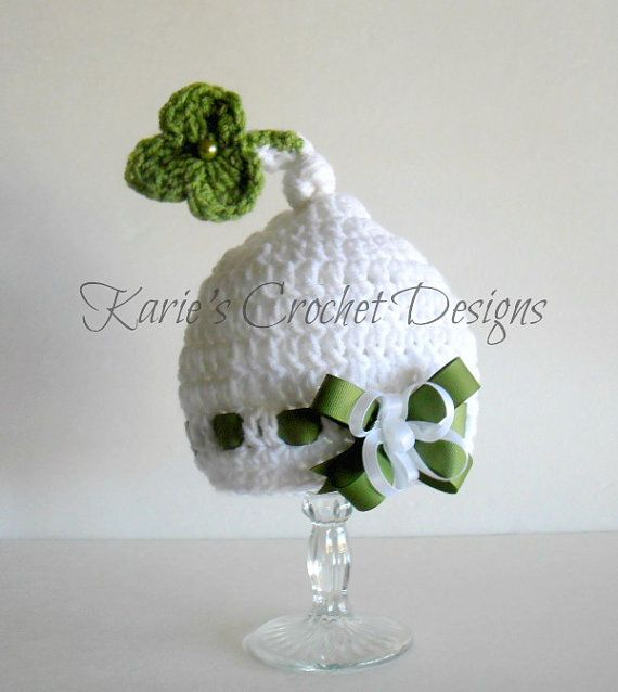 Crochet Clover Pixie Beanie Hat - Etsy $17.99 | Knit Happens - Hats ...
