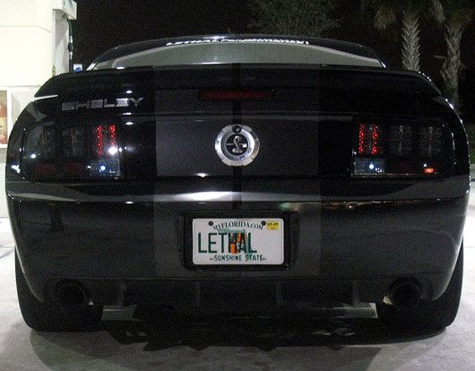 Recon Part 264187bk Smoked Led Tail Lights Ford Mustang 2005 2009 2005 2006 2007 2008 2009 Mustang Ford Mustang Ford Mustang Gt