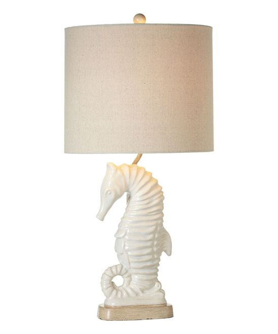 Ivory Seahorse Accent Lamp