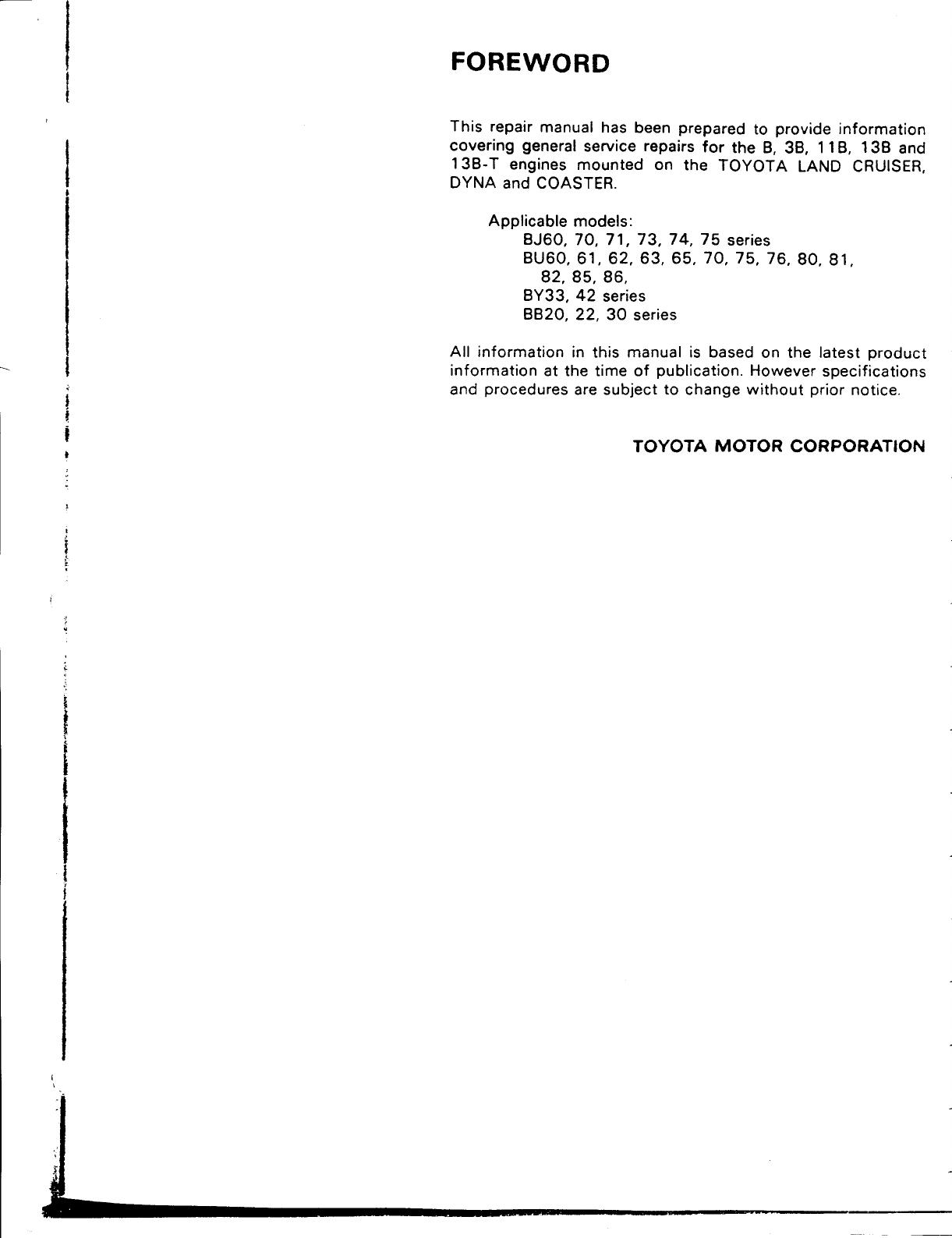 Toyota Dyna 1994 Misc Documents 13B T Engine Manual PDF