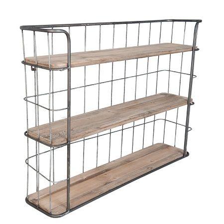 Bakkersrek metaal met houten planken plaats je er gemakkelijk bij in de keuken woon of - Eenvoudig slaapkamer model ...