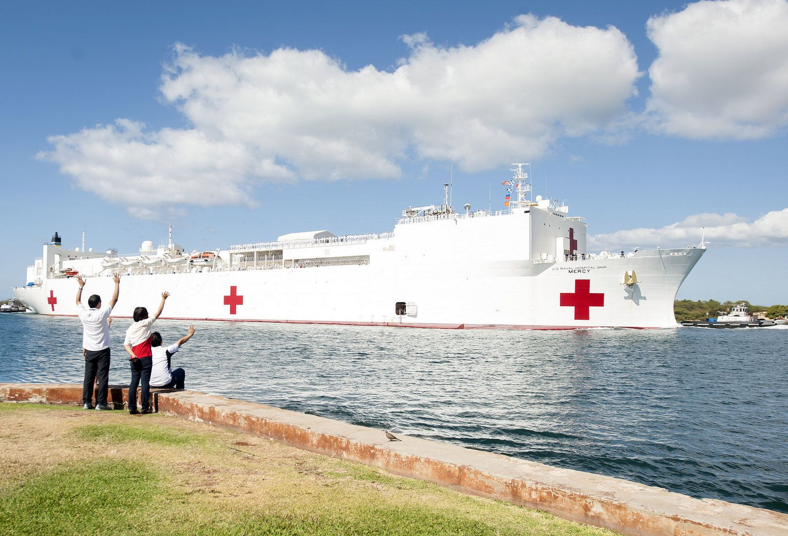 USNS Mercy arrives at Joint Base Pearl HarborHickam