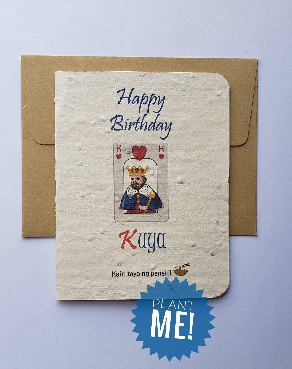 Kuya Birthday Card Pinoy Card Pinoy Art For Older Etsy Birthday Cards Funny Birthday Cards Dad Cards