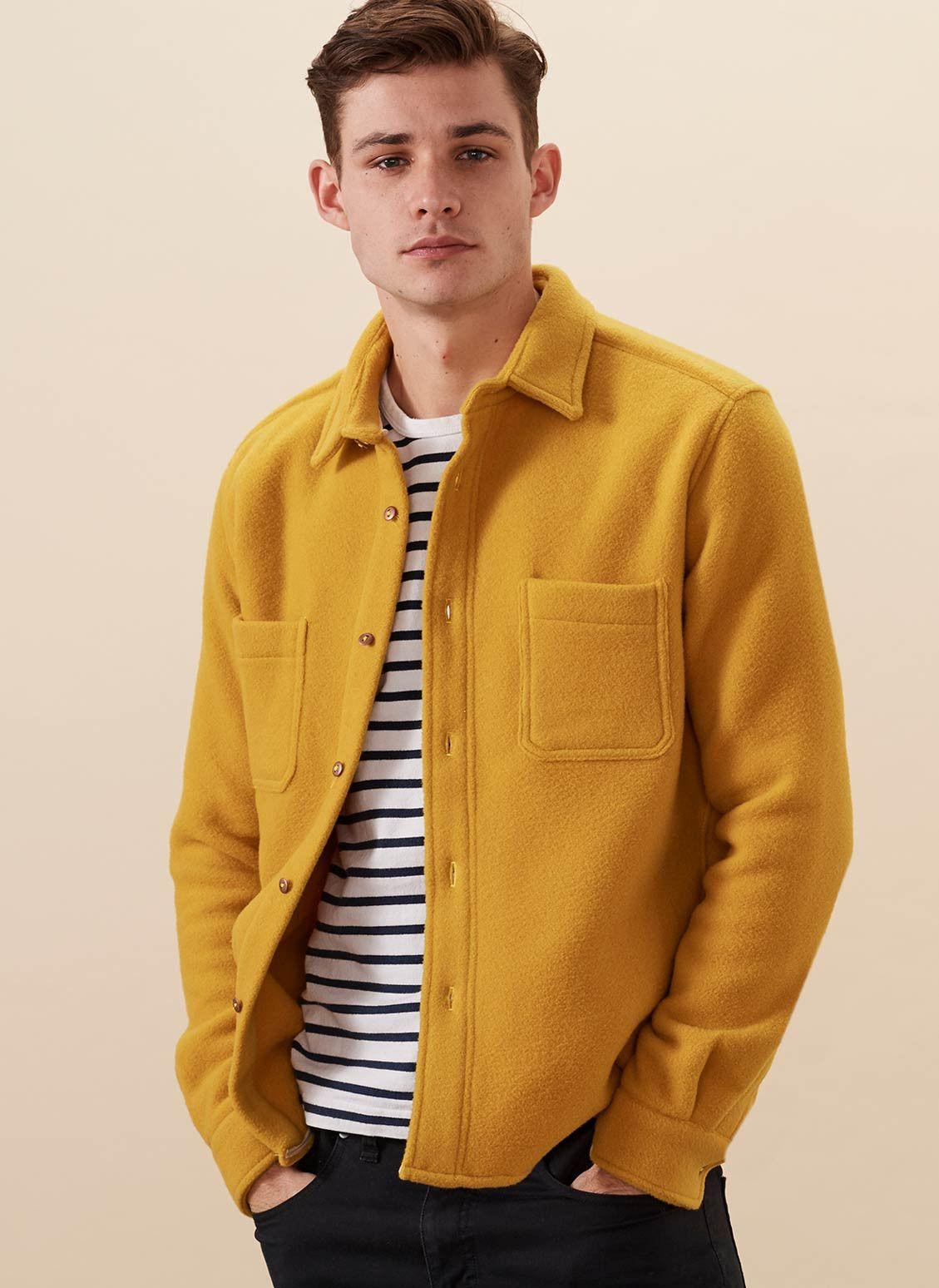 Overshirt Yellow Fleece Http Www 99wtf Net Men Mens Fasion Fit