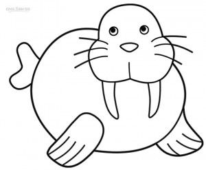 Walrus Coloring Pages For Kids Coloring Pages Preschool Coloring