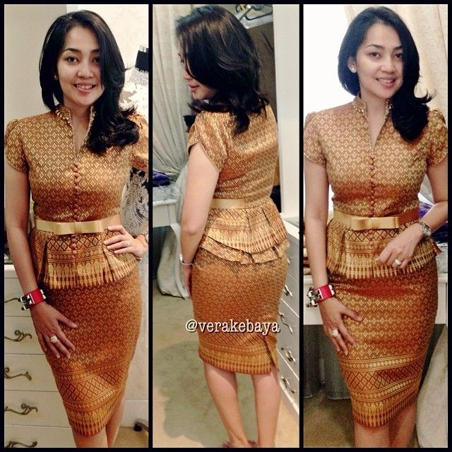 Model Baju Dan Rok Batik Kombinasi: Songket Dress From Vera Kebaya