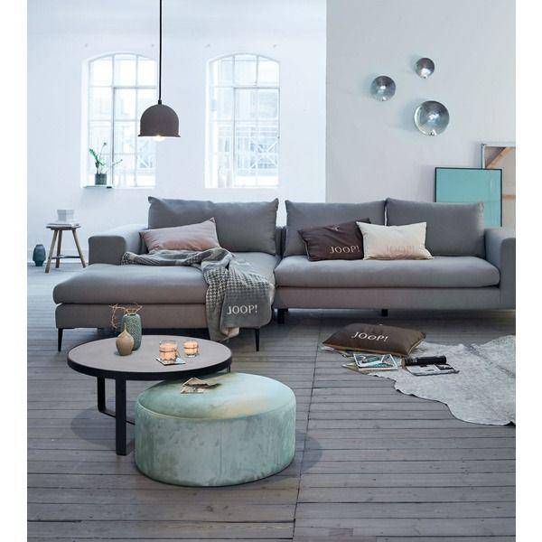 Ecksofa von IMPRESSIONEN living - Grau Klare Linien und weiche - joop möbel wohnzimmer