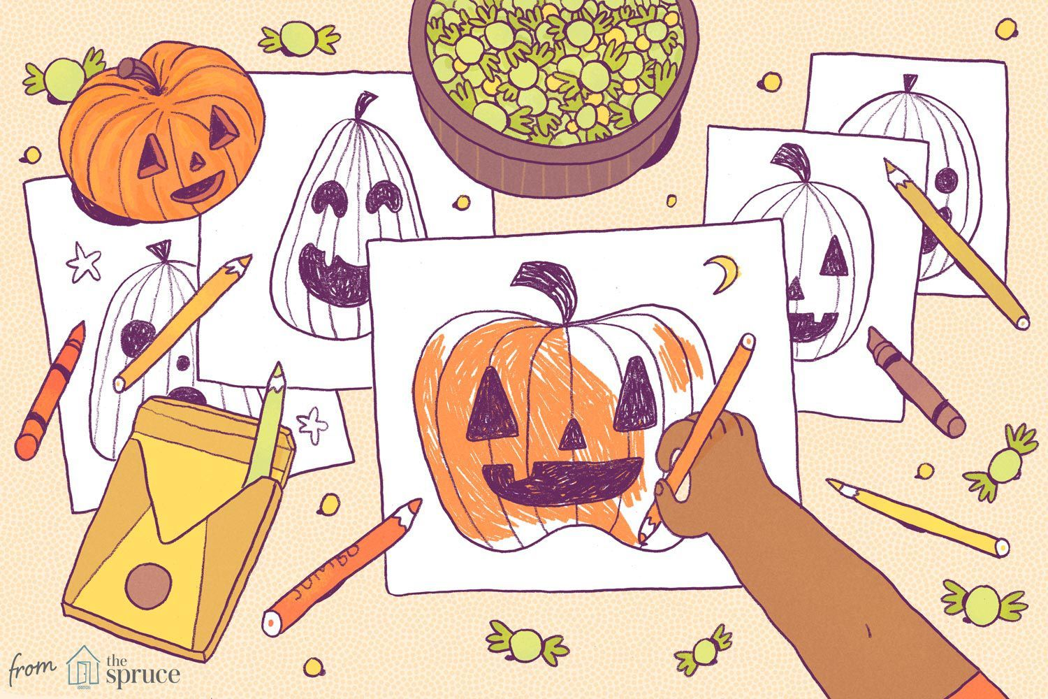 Free Pumpkin Coloring Pages For Kids In