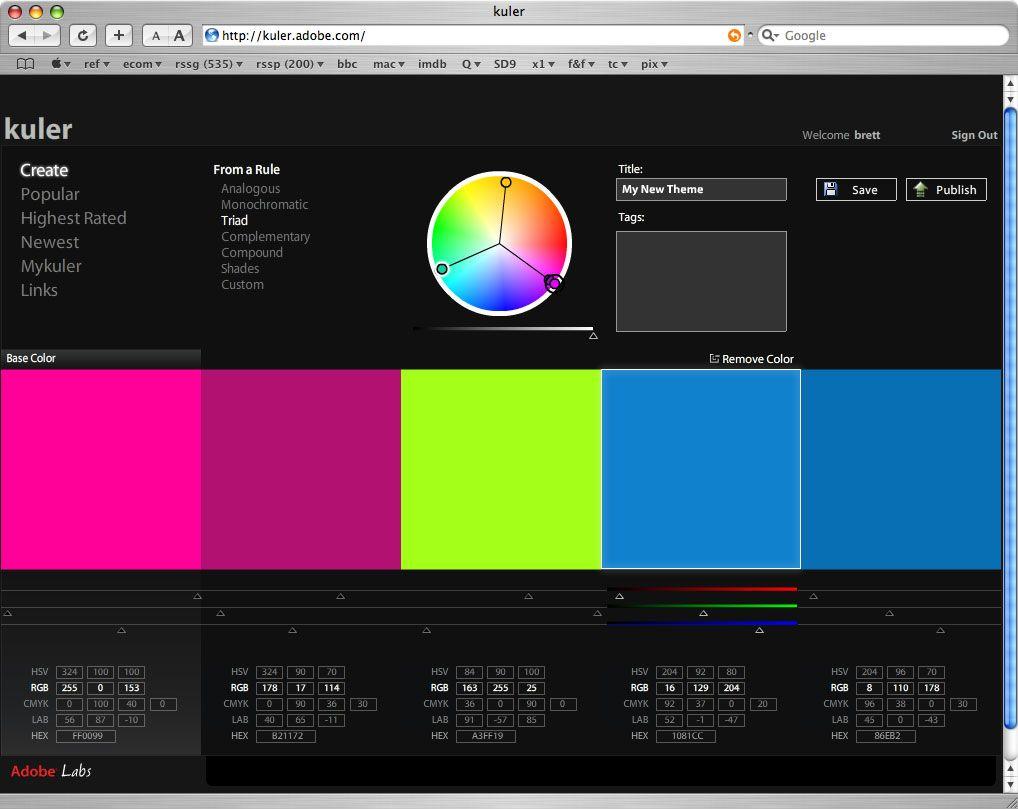 kuler.jpg 1,018×809 pixels Web design tutorials, Design