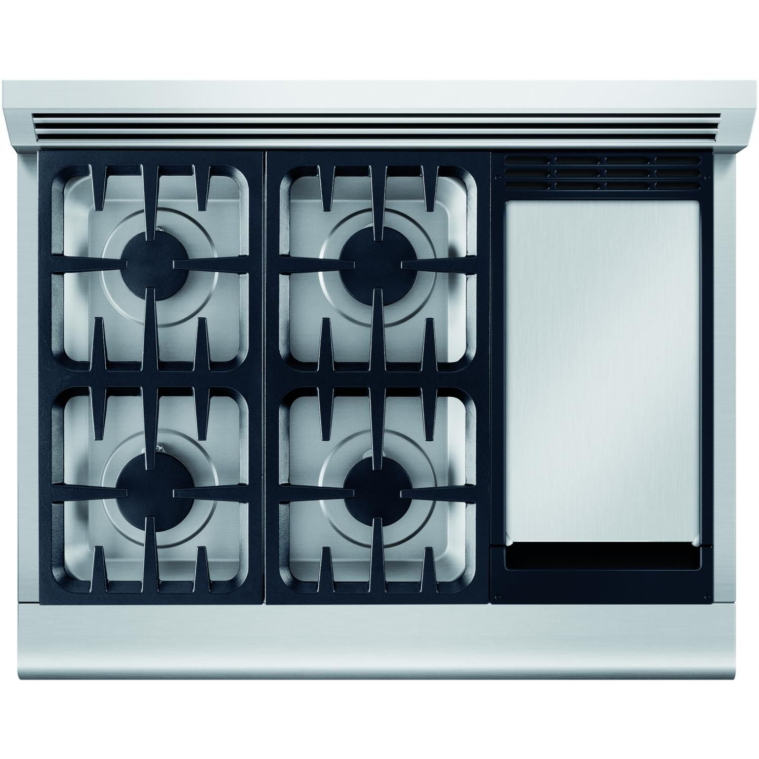 DCS Professional 36-Inch Natural Gas Range - Cooktop Layout | home ...