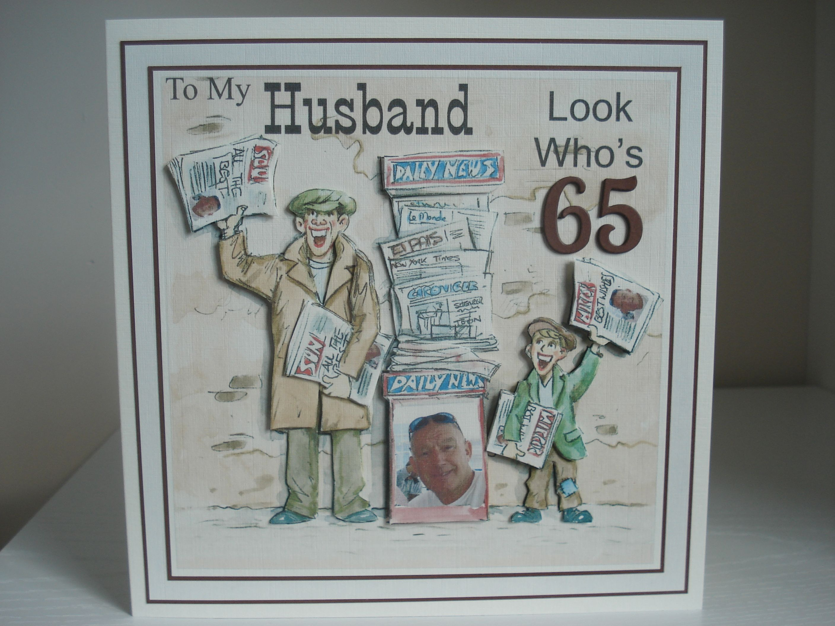 My Husbands 65th Birthday Card | Marion | Pinterest