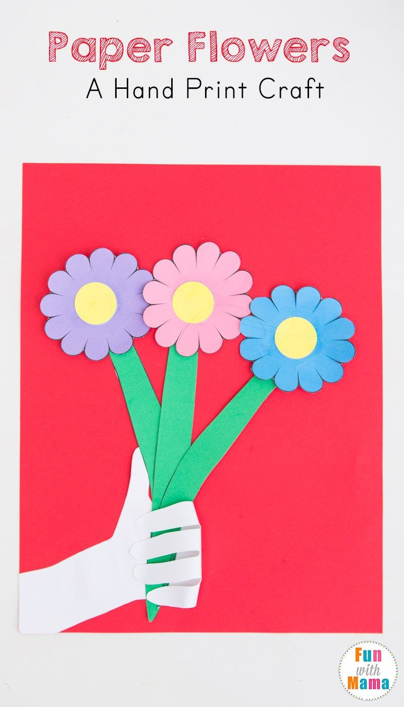 Paper Flowers Craft For Kids Hand Crafts For Kids Paper Flowers