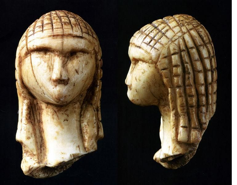 The Venus of Brassempouy, carved from mammoth tusks approximately 27,000 years ago