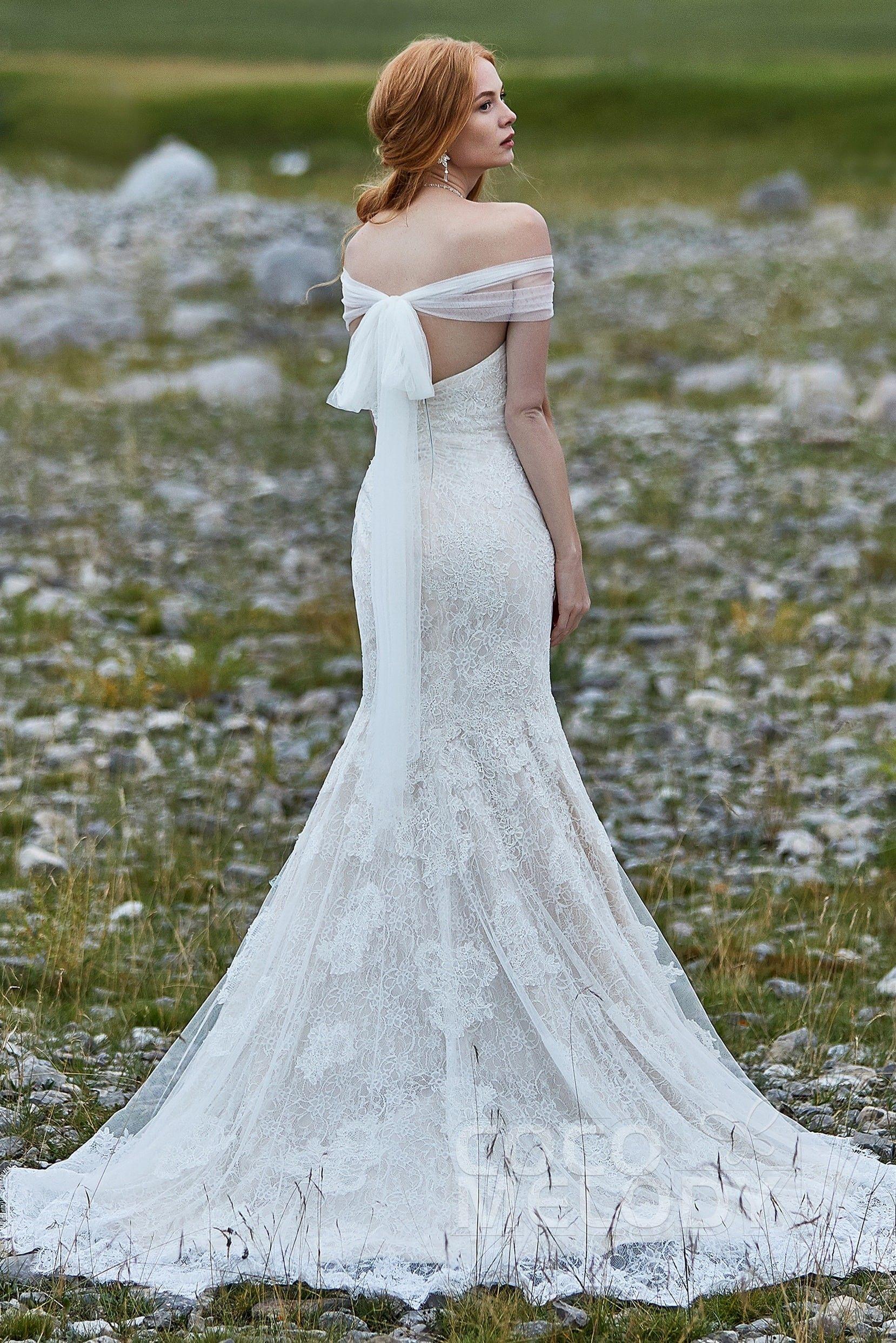 8eeb6c31a1847 Sweetheart Natural Lace Zipper Wedding Dress #LD5778 | Cocomelody # cocomelody #weddingdress #bridalgown #mermaidweddingdress
