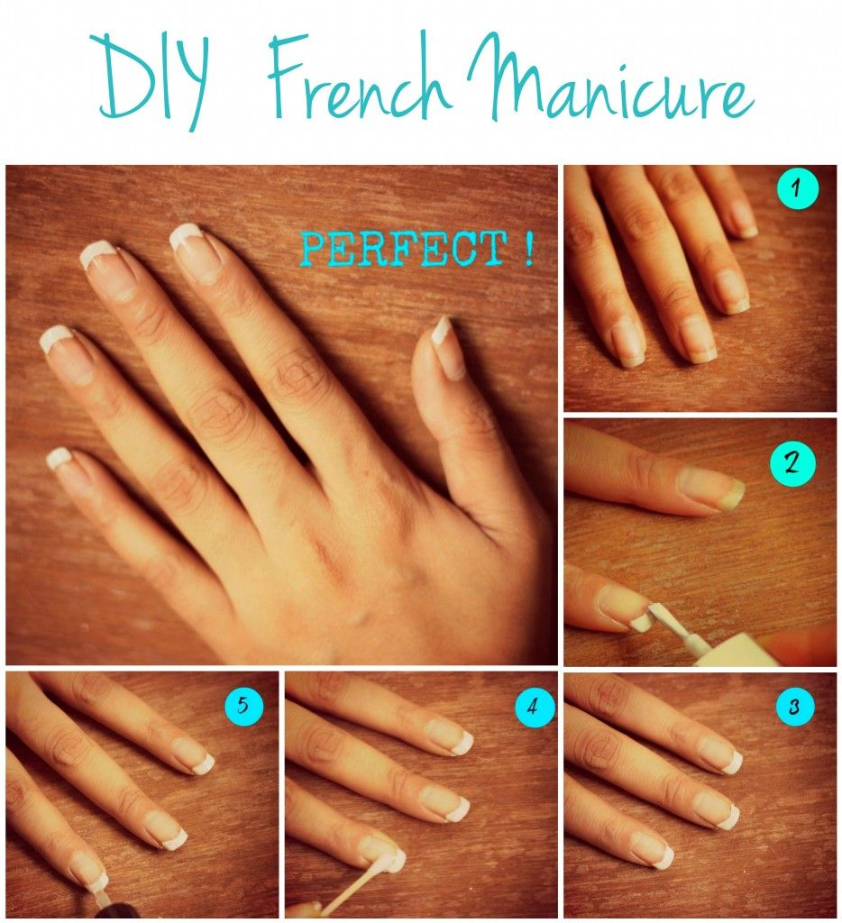 Diy French Manicure Tutorial Despite All My Love For Nail Polish This Is The Only Style I Continuous Like Manicure Tutorials Manicure French Manicure