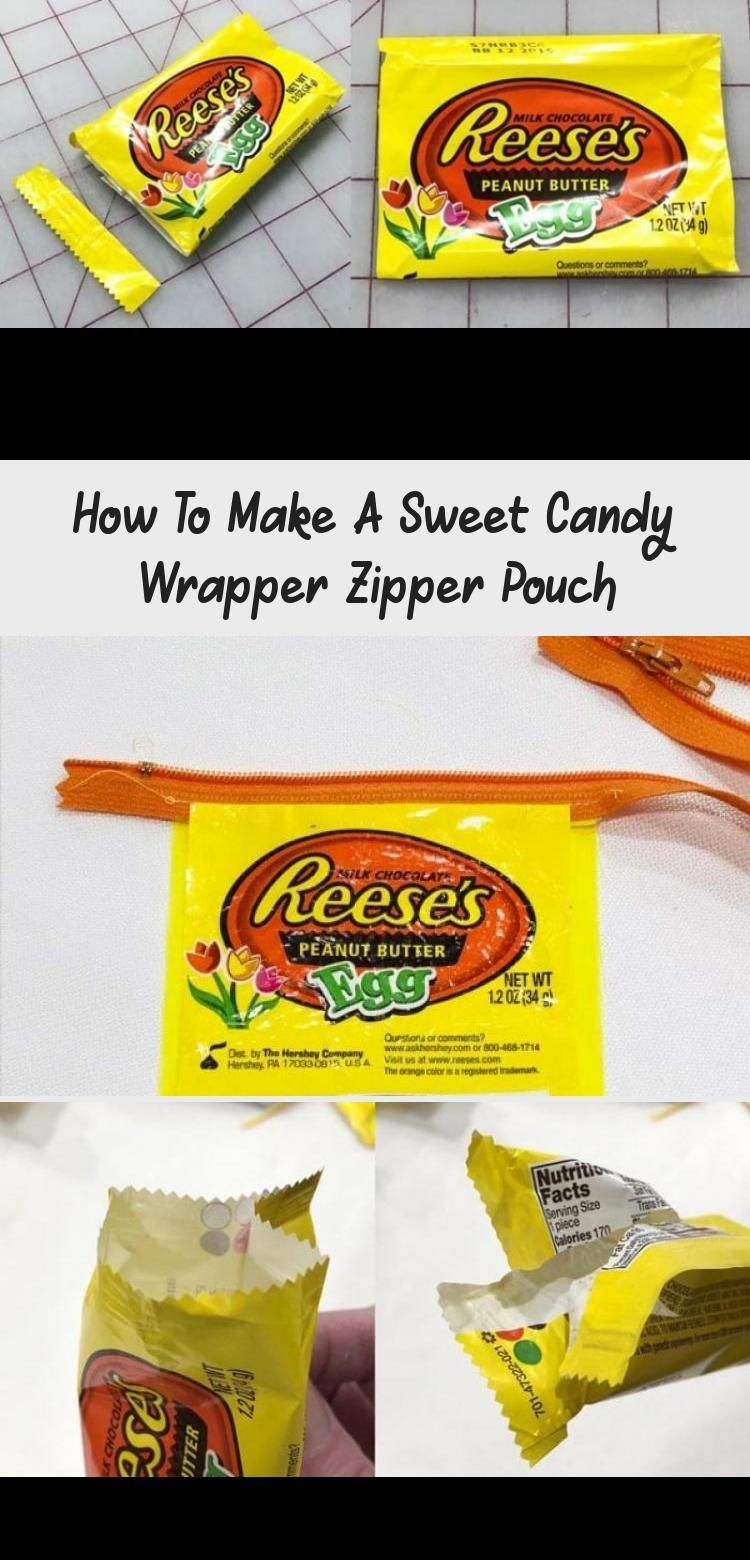 Free Sewing Tutorial Make Candy Wrapper Zipper Pouch Includes video tutorials Eat the Easter candy then make these cute zipper pouches Free sewing tutorial to turn beauti...