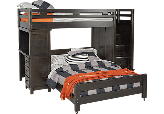 with desk Twin full bed bunk