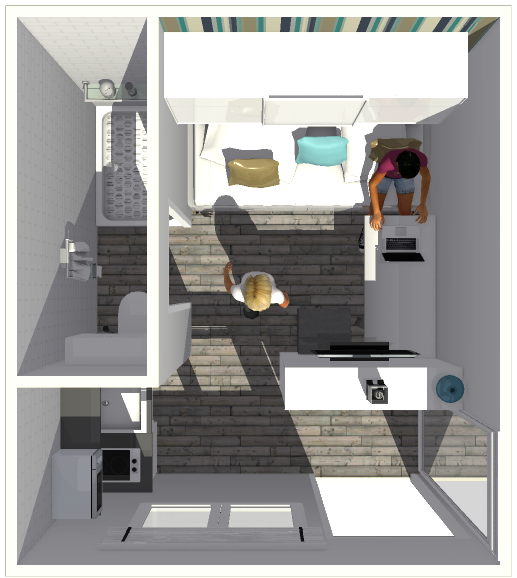 10 m2 108 sq ft micro apartment small houses pinterest micro rh pinterest ca 900 Sq FT Room 900 Sq FT Kitchen