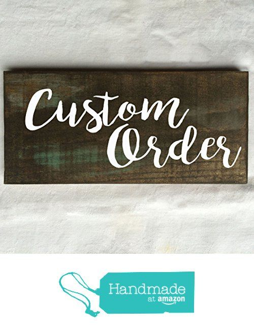 Custom Text Rustic Wooden Sign 12X6 from Create Your Joy https://www.amazon.com/dp/B01N0Z6HHP/ref=hnd_sw_r_pi_awdo_vHKVyb1DZEQS6 #handmadeatamazon