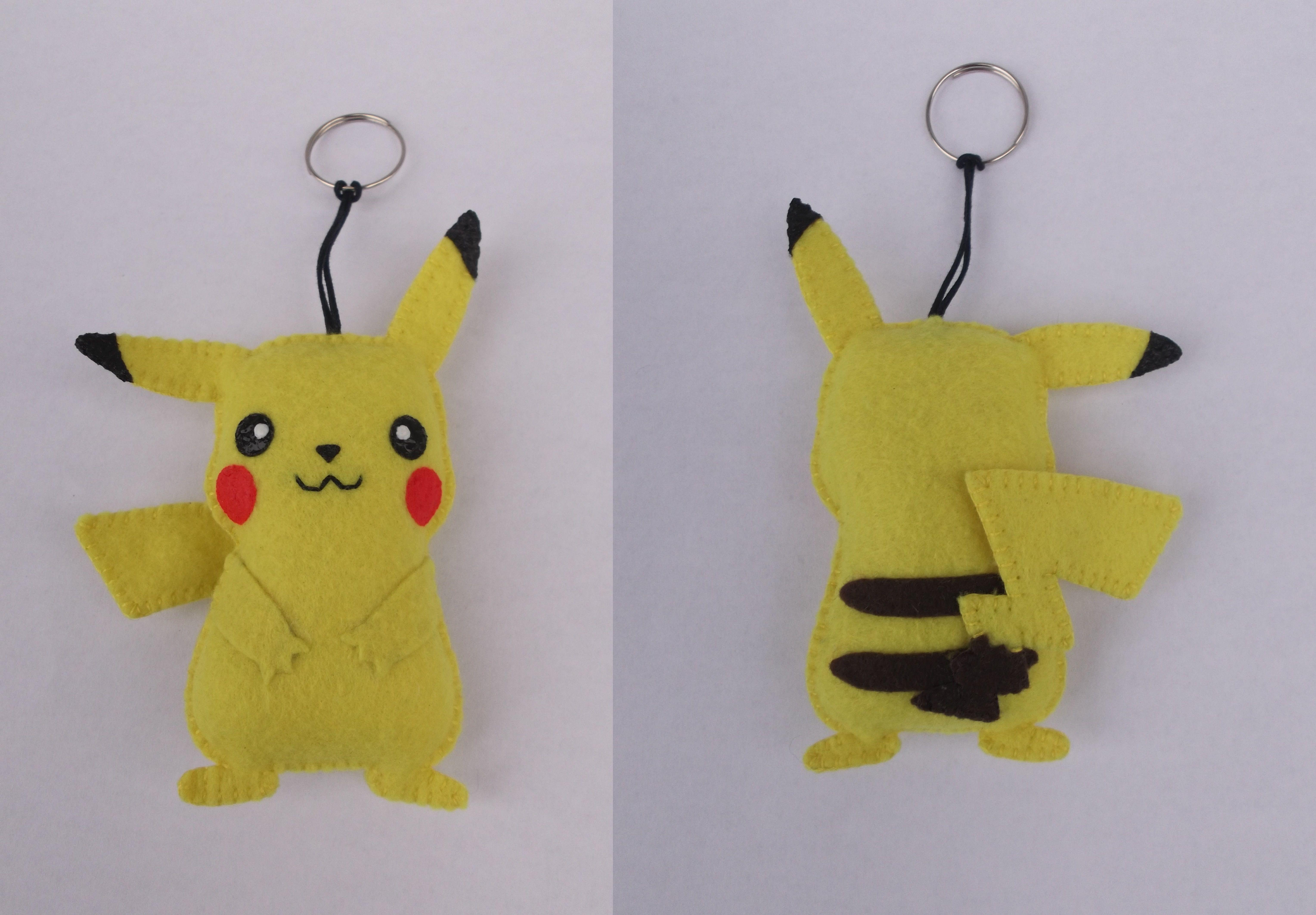 chaveiro pikachu - pokémon - encomendas pela minha página no facebook - https://www.facebook.com/Boutiquegeekbg/