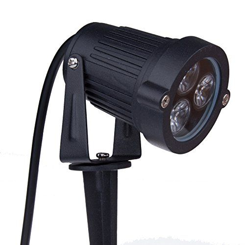 Bloomwin 12volt 3x3watt Led Lawn Lamp Ip65 Black Shell Outdoor Spike Ground Mounted Warm White B Pond Lights Outdoor Garden Lighting Outdoor Landscape Lighting