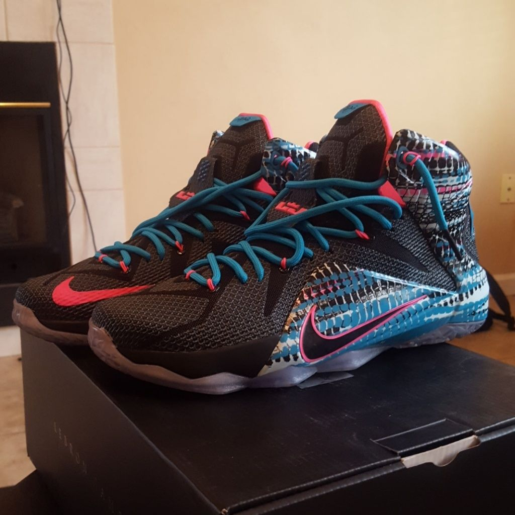 Nike Shoes Nike Lebron Xii Elite South Beach Color Black Blue